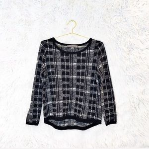 French Connection plaid pullover sweater